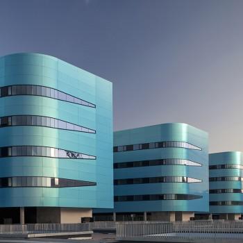 Hospital metropolitano de Vigo   Emplacement: Vigo. Pontevedra   Architecte: Luis Vidal + Architects/Jacobo Rodríguez-Losada/Vicente Fernández-Couto   Installateur: INASUS/Vilares Chas/Arteal/Ventanales Caamaño/Ferga/Carmetal   Livre: 2015